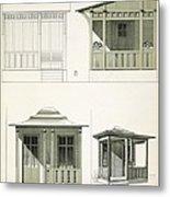 Architecture In Wood, C.1900 Metal Print by Richard Dorschfeldt