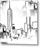 Architecture Of New York City Metal Print by Dan Sproul