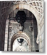 Archways At The Library Metal Print by John Rizzuto