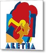 Aretha Franklin No.05 Metal Print by Caio Caldas