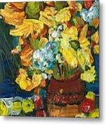 Arizona Sunflowers Metal Print by Sherry Harradence