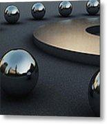Around Circles Metal Print by Richard Rizzo