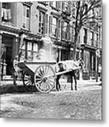 Ash Cart New York City 1896 Metal Print by Unknown