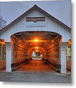 Ashuelot Covered Bridge Metal Print by Joann Vitali