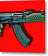 Assault Rifle Pop Art - 20130120 - V1 Metal Print by Wingsdomain Art and Photography