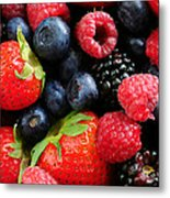Assorted Fresh Berries Metal Print by Elena Elisseeva