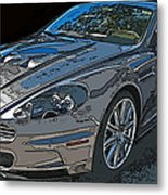 Aston Martin Db S Coupe 3/4 Front View Metal Print by Samuel Sheats