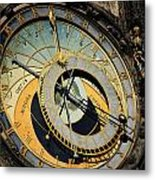 Astronomical Clock In Prague Metal Print by Jelena Jovanovic
