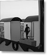 At The Beach - Monochrome Metal Print by Ulrich Kunst And Bettina Scheidulin