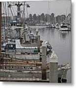 At The Dock Metal Print by Amanda Barcon