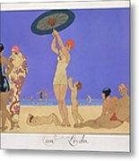 At The Lido Metal Print by Georges Barbier
