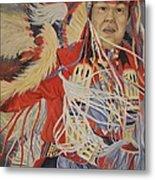 At The Powwow Metal Print by Wanda Dansereau