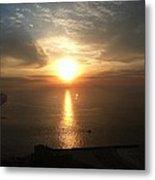 Atlantic City Sunset Metal Print by John Telfer