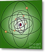 Atomic Structure Model Metal Print by Science Source