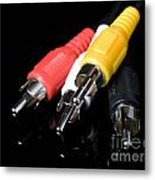 Audio And Video Cables Metal Print by Sinisa Botas