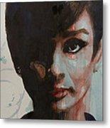 Audrey Hepburn  Metal Print by Paul Lovering
