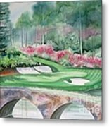 Augusta National 12th Hole Metal Print by Deborah Ronglien