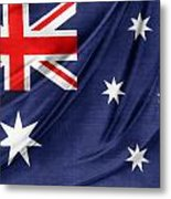 Australian Flag Metal Print by Les Cunliffe