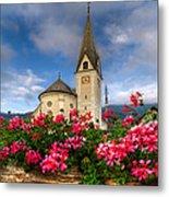 Austrian Church Metal Print by Debra and Dave Vanderlaan