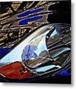 Auto Headlight 113 Metal Print by Sarah Loft