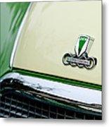 Auto Union Dkw Hood Emblem Metal Print by Jill Reger