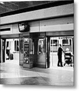 automated guideway transit system at Denver International Airport Colorado USA Metal Print by Joe Fox