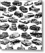 Automotive Pen And Ink Poster Metal Print by Jack Pumphrey