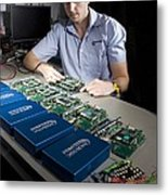 Automotive Testing Industry Metal Print by Science Photo Library
