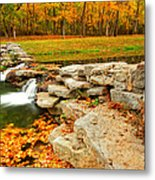 Autumn Ablaze Metal Print by Gregory Ballos