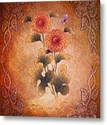 Autumn Blooming Mum Metal Print by Bedros Awak