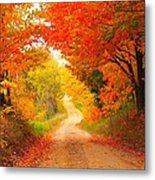 Autumn Cameo 2 Metal Print by Terri Gostola