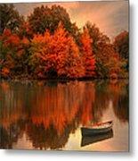 Autumn Canoe Metal Print by Robin-lee Vieira