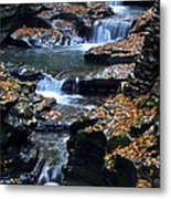 Autumn Cascade Metal Print by Frozen in Time Fine Art Photography