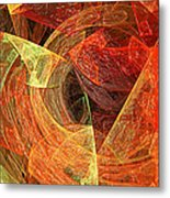Autumn Chaos Metal Print by Andee Design