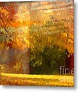 Autumn Colors Painterly Metal Print by Lutz Baar