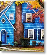 Autumn - House - Little Dream House  Metal Print by Mike Savad