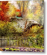 Autumn - House - On The Way To Grandma's House Metal Print by Mike Savad