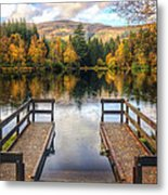Autumn In Glencoe Lochan Metal Print by Dave Bowman