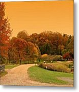 Autumn In The Park - Holmdel Park Metal Print by Angie Tirado