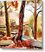Autumn Jon Boats II Metal Print by Kip DeVore