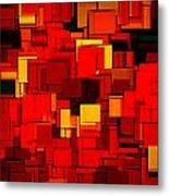 Autumn Modern Abstract Xv Metal Print by Lourry Legarde