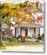 Autumn On The Farm Metal Print by Bill Losey