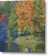 Autumn On The Lake Metal Print by Marna Edwards Flavell