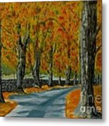 Autumn Pathway Metal Print by Anthony Dunphy