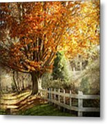 Autumn - Westfield Nj - I Love Autumn Metal Print by Mike Savad