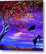 Autumn Wind Metal Print by Ann Marie Bone