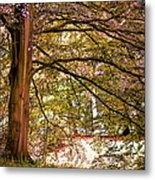 Autumnal Colors In The Summer Time. De Haar Castle Park Metal Print by Jenny Rainbow