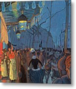 Avenue De Clichy Paris Metal Print by Louis Anquetin