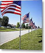 Avenue Of The Flags Metal Print by Cricket Hackmann