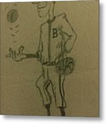 B Is For Baseball Metal Print by Christy Saunders Church